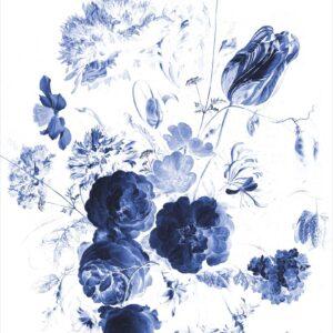 Behangpaneel Royal Blue Flowers